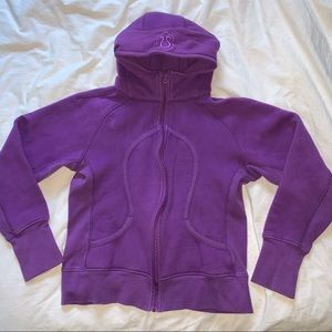 purple Lululemon women's zip up hoodie
